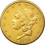 Monnaie, États-Unis, Liberty Head, $20, Double Eagle, 1859, U.S. Mint, San