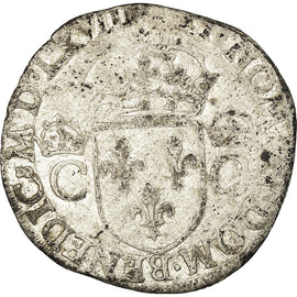 Monnaie, France, Charles IX, Teston, 1568, Toulouse, TB, Argent, Sombart:4602