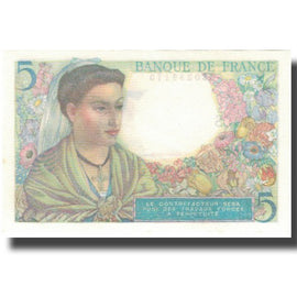 France, 5 Francs, Berger, 1943, 1943-07-22, NEUF, Fayette:05.02, KM:98a