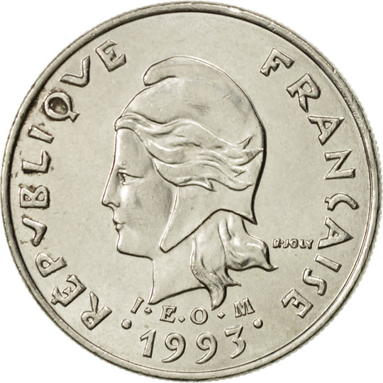 French Polynesia, 10 Francs, 1993, Paris, SUP, Nickel, KM:8