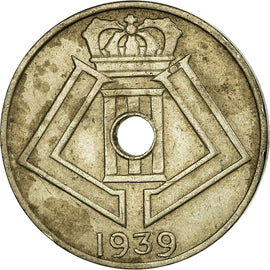 Monnaie, Belgique, 5 Centimes, 1939, TB+, Nickel-brass, KM:111