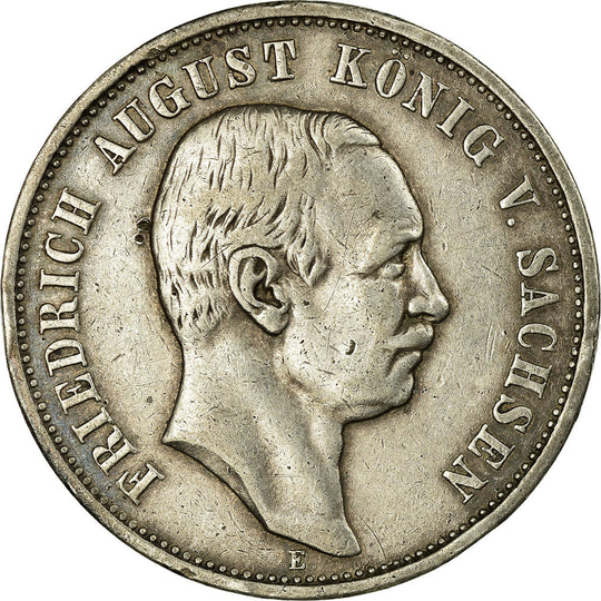 Monnaie, Etats allemands, SAXONY-ALBERTINE, Friedrich August III, 3 Mark, 1909