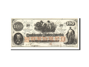 Confederate States of America, 100 Dollars, 1862, KM:45, 1862-08-26, SUP