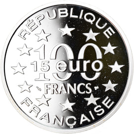 Monnaie, France, Grand'Place de Bruxelles, 100 Francs-15 Euro, 1996, Proof, FDC
