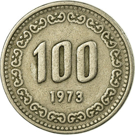 Monnaie, KOREA-SOUTH, 100 Won, 1973, TB+, Copper-nickel, KM:9