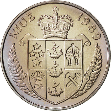 Niue, Elizabeth II, 5 Dollars, 1989, Copper-nickel, Tennis, KM:24