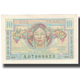 France, 10 Francs, 1947 French Treasury, 1947, 1947, SPL+, Fayette:vF 30.1