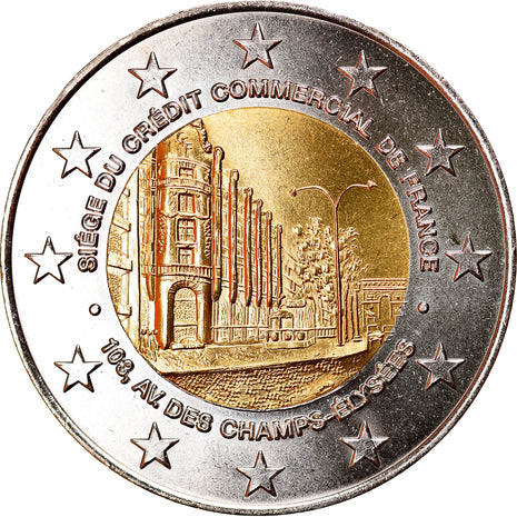 France, Médaille, CCF, Avènement de l'Euro, 1999, FDC, Copper-nickel