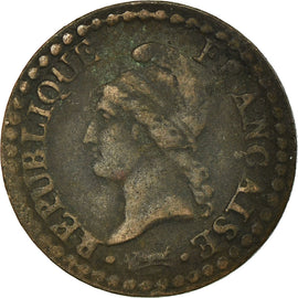 Monnaie, France, Dupré, Centime, 1798, Paris, TB+, Bronze, KM:646