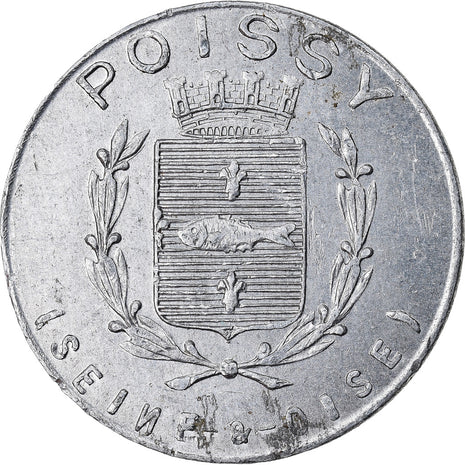 Monnaie, France, Union du Commerce et de l'Industrie, Poissy, 5 Centimes, 1918