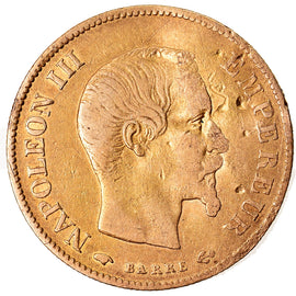 Monnaie, France, Napoleon III, Napoléon III, 10 Francs, 1859, Paris, B+, Or