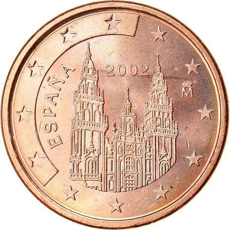 Espagne, 5 Euro Cent, 2002, SUP, Copper Plated Steel, KM:1042