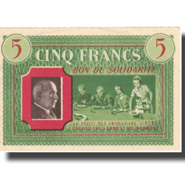 France, Comité National, 5 Francs, SPL