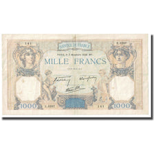 France, 1000 Francs, Cérès et Mercure, 1938, P. Rousseau and R. Favre-Gilly