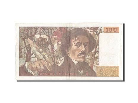 Billet, France, 100 Francs, 100 F 1978-1995 ''Delacroix'', 1984, 1984, TB