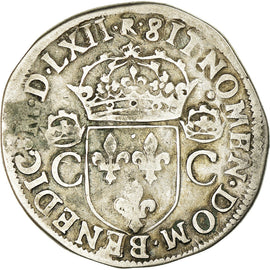 Monnaie, France, Charles IX, Teston, 1562, Toulouse, TB+, Argent, Sombart:4602