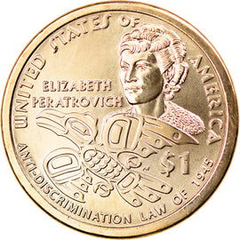 Monnaie, États-Unis, Dollar, 2020, Philadelphie, American native dollar, SPL
