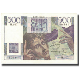 France, 500 Francs, Chateaubriand, 1948, 1948-05-13, SPL, Fayette:34.8, KM:129b