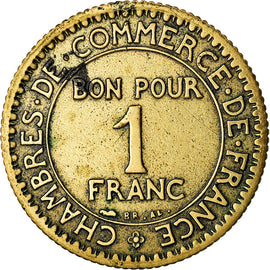 Monnaie, France, Chambre de commerce, Franc, 1922, Paris, TB, Aluminum-Bronze