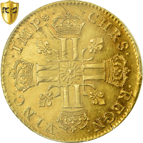 Monnaie, France, Louis XIV, Double louis d'or au soleil, 2 Louis D'or, 1712