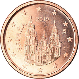 Espagne, Euro Cent, 2019, SUP, Copper Plated Steel, KM:New