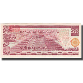Billet, Mexique, 20 Pesos, 1977, 1977-07-08, KM:64d, SUP
