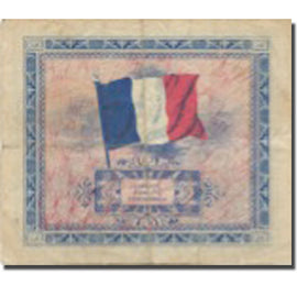 France, 2 Francs, Drapeau/France, 1944, 1944-06-06, TB+, Fayette:VF 16.01