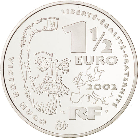 France, 1-1/2 Euro, 2002, FDC, Argent, KM:1332