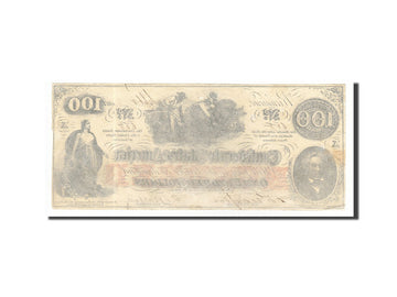 Billet, Confederate States of America, 100 Dollars, 1862, 1862-08-26, KM:45