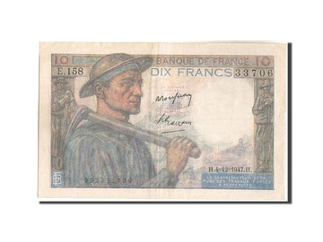 Billet, France, 10 Francs, 10 F 1941-1949 ''Mineur'', 1947, 1947-12-04, TB