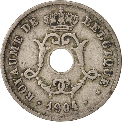 Monnaie, Belgique, 10 Centimes, 1904, TB, Copper-nickel, KM:52