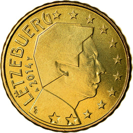 Luxembourg, 10 Euro Cent, 2014, SPL, Laiton