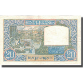 France, 20 Francs, Science et Travail, 1940, 1940-06-06, TTB+, Fayette:12.3