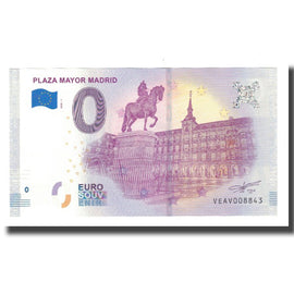 Espagne, Billet Touristique - 0 Euro, Spain - Madrid - La Plaza Mayor de Madrid