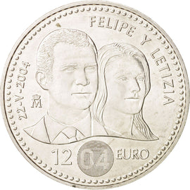 Spain, 12 Euro, 2004, Madrid, KM:1069, SPL, Silver