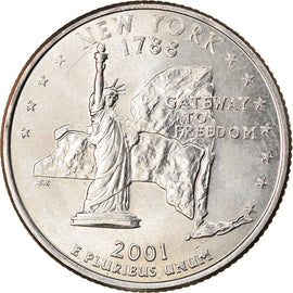 Monnaie, États-Unis, New York, Quarter, 2001, U.S. Mint, Denver, TTB