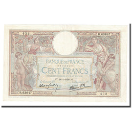 France, 100 Francs, Luc Olivier Merson, 1939, 1939-01-26, SUP, Fayette:25.40