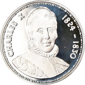 France, Médaille, Charles X 1824-1830, FDC, Argent