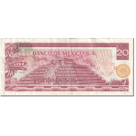Billet, Mexique, 20 Pesos, 1976, 1976-07-08, KM:64c, TTB