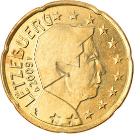 Luxembourg, 20 Euro Cent, 2009, SUP, Laiton, KM:90