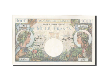 France, 1000 Francs, 1 000 F 1940-1944 ''Commerce et Industrie'', 1944, 1944-...