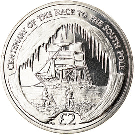 Monnaie, South Georgia and the South Sandwich Islands, 2 Pounds, 2010, Course