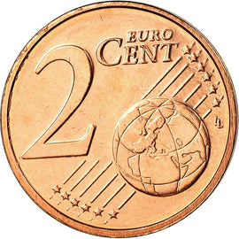Luxembourg, 2 Euro Cent, 2003, SPL, Copper Plated Steel, KM:76
