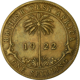 Monnaie, BRITISH WEST AFRICA, George V, Shilling, 1922, TB+, Tin-Brass, KM:12a