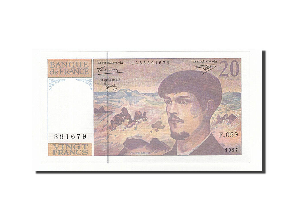 Billet, France, 20 Francs, 20 F 1980-1997 ''Debussy'', 1997, NEUF