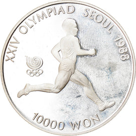 Monnaie, KOREA-SOUTH, 10000 Won, 1988, Seoul, SPL, Argent, KM:74