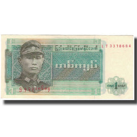 Billet, Birmanie, 1 Kyat, KM:56, SUP