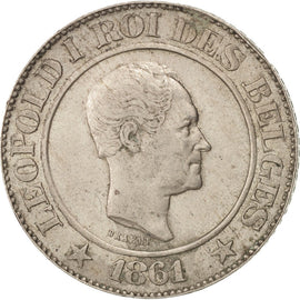 Monnaie, Belgique, Leopold I, 20 Centimes, 1861, TTB+, Copper-nickel, KM:20