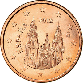 Espagne, 5 Euro Cent, 2012, TTB+, Copper Plated Steel, KM:1146