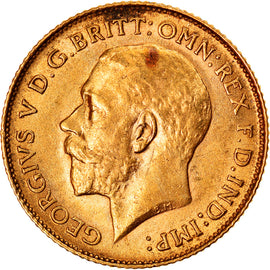 Monnaie, Afrique du Sud, George V, 1/2 Sovereign, 1925, Pretoria, TTB+, Or